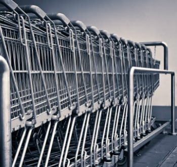 Shopping Carts At Big Box Retailer