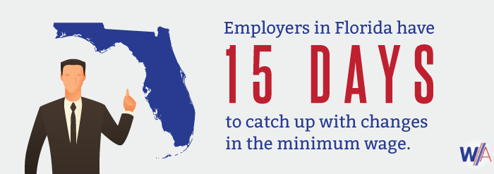 Florida State Minimum Wage Change Infographic